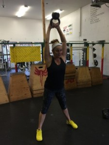 My mom had the Courage to join a Crossfit gym first.